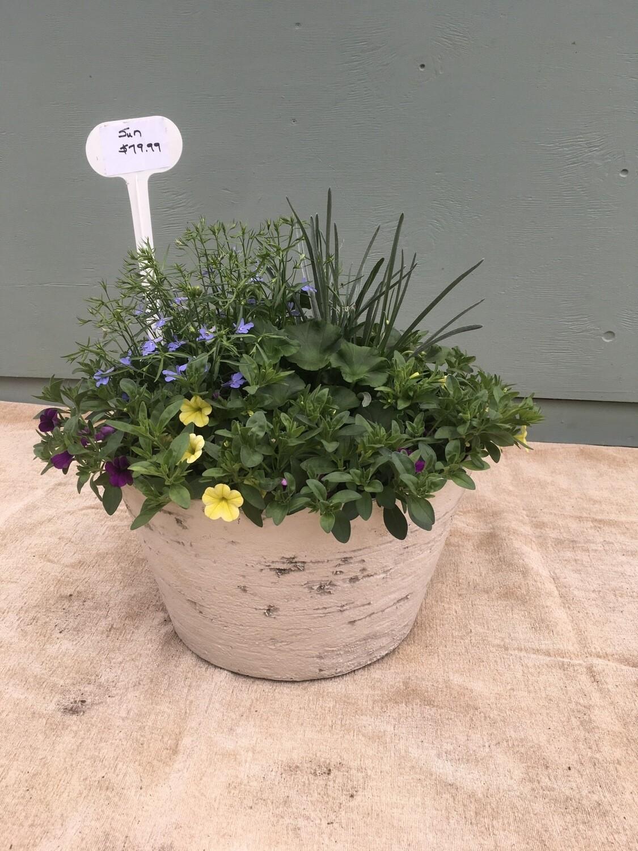 "16"" White Planter Pot"