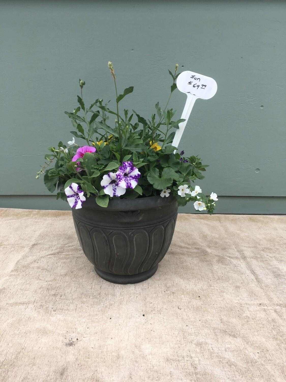 "16"" Grey 'swirl' Planter Pot"