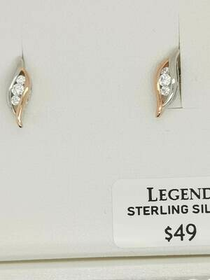 Legend Earrings Trinity Stone