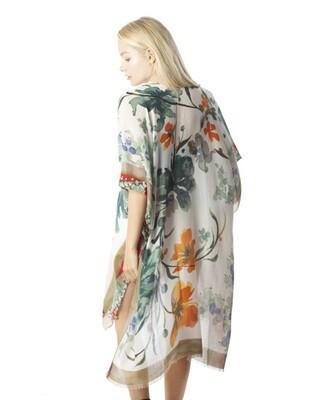 Floral Print Kimono Coverup