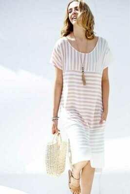 Summer Dress Contrast Bold Stripe