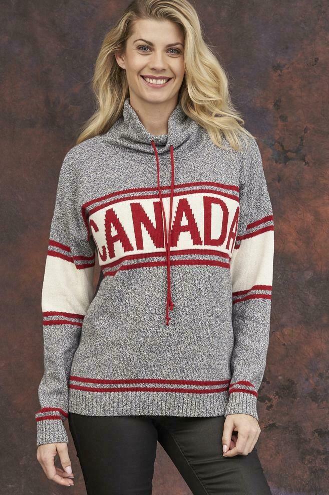 Grey Tweed Canadian Sweater 350-117-60120