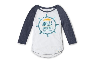 Tri-blend 3/4 Sleeve Raglan White/Navy