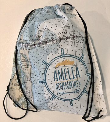 Amelia Adventures Drawstring Bag