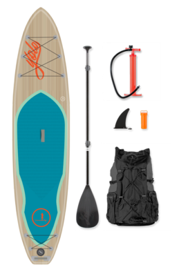 12' SEA TEAK INFLATABLE SUP | FREE SHIPPING | FREE PADDLE