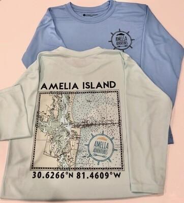 Kid's Amelia Island Lat/Long UPF 50 Solar Shirt