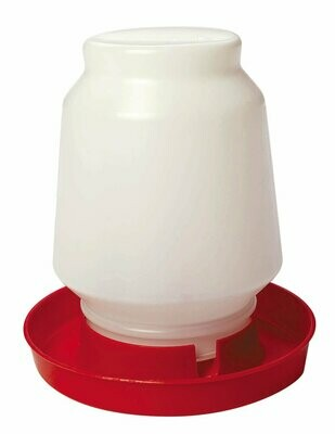 1 Gallon Poultry waterer.  Complete both pieces