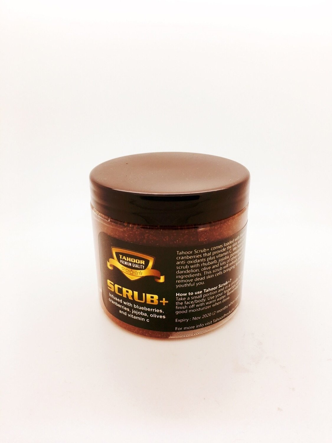 Face scrub with blueberries, jojoba and cranberries