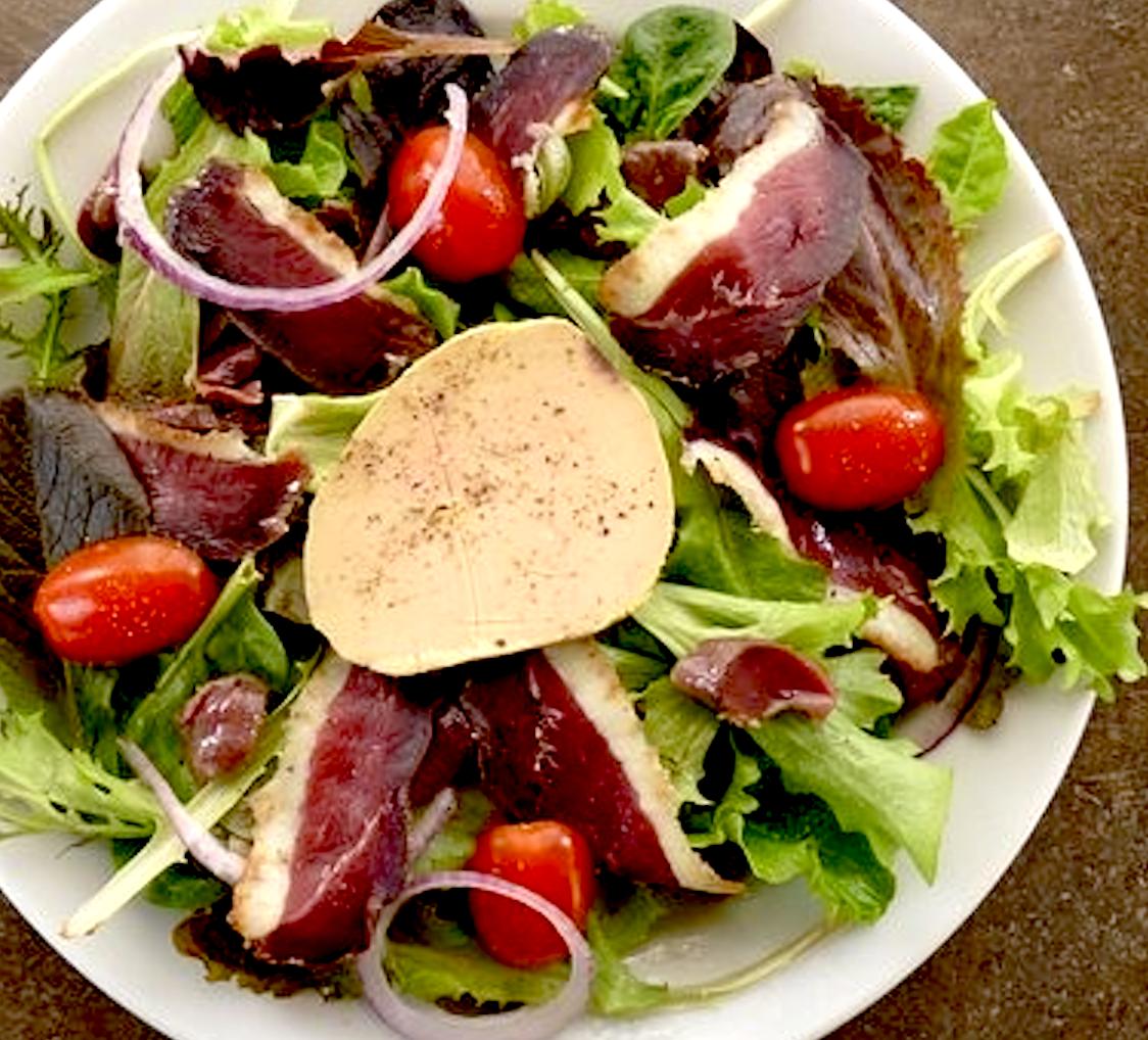 Foie Gras & Smoked Duck Breast Salad