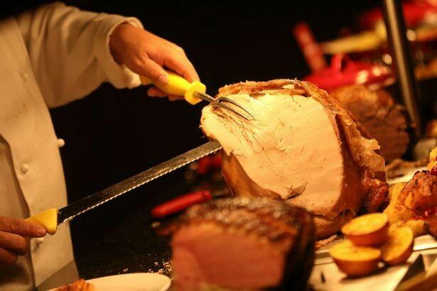 Roast Stuffed Turkey & Ham