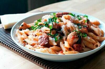 Prawn & Chorizo Penne Pasta