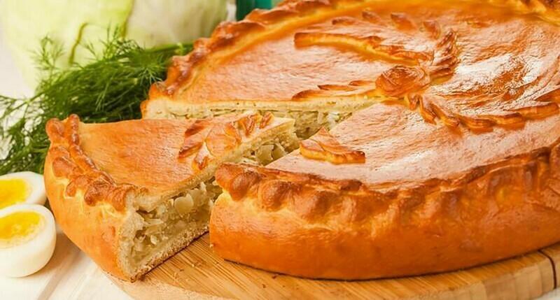 Пирог с капустой 1 кг (предзаказ)