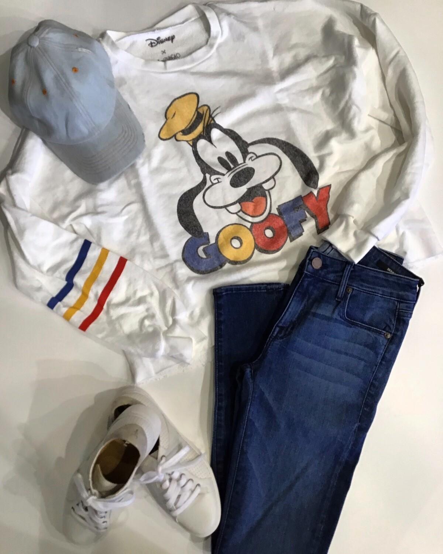 Goofy Stripe Sleeve Sweatshirt