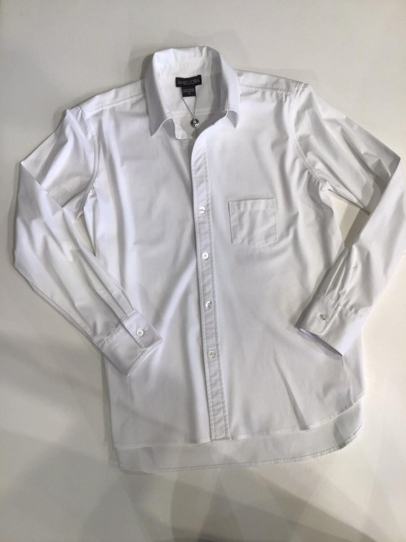 Hi-lo hem button front shirt