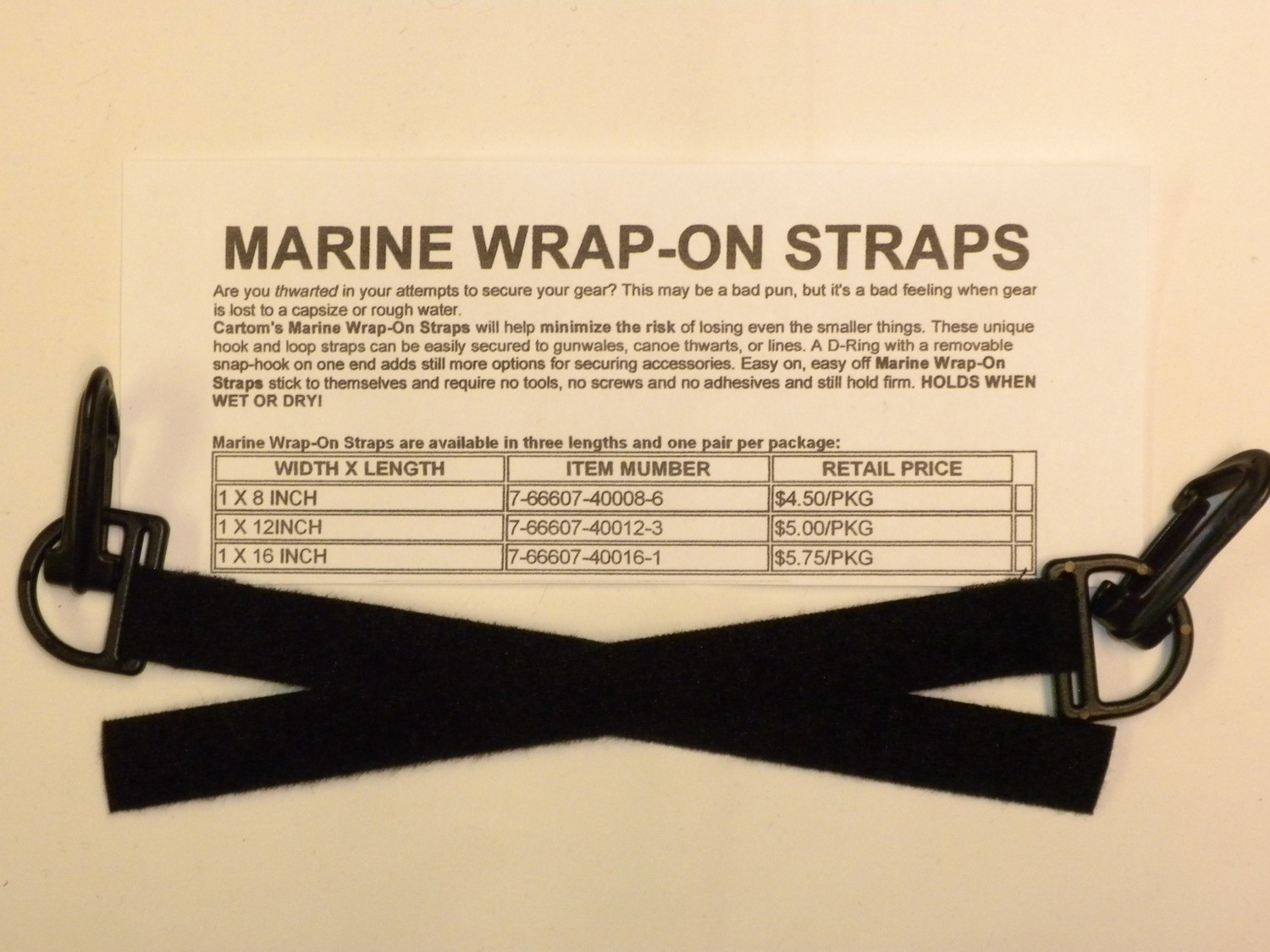 Marine Wrap-On Straps