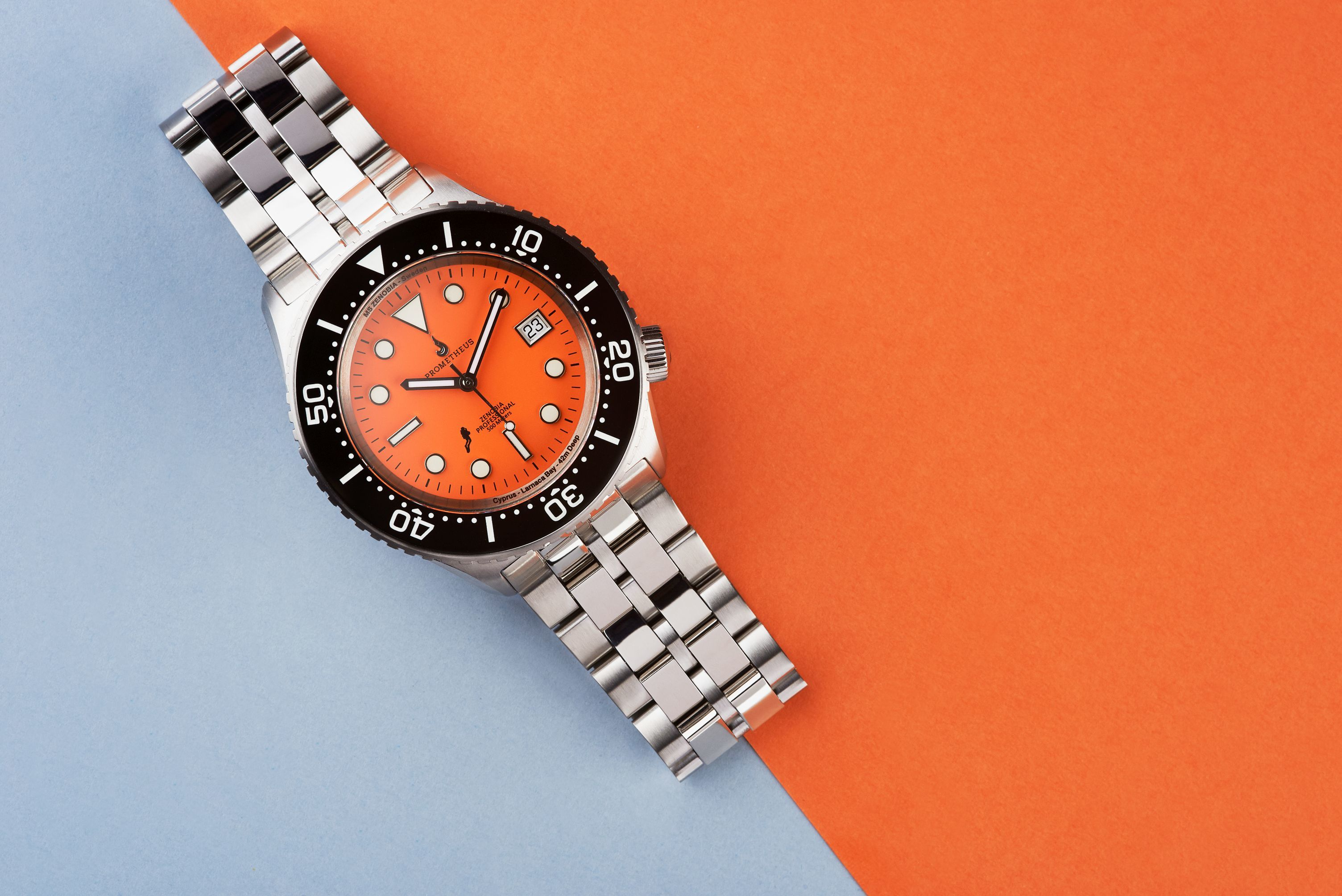 Prometheus Zenobia Orange Dial Date Version C