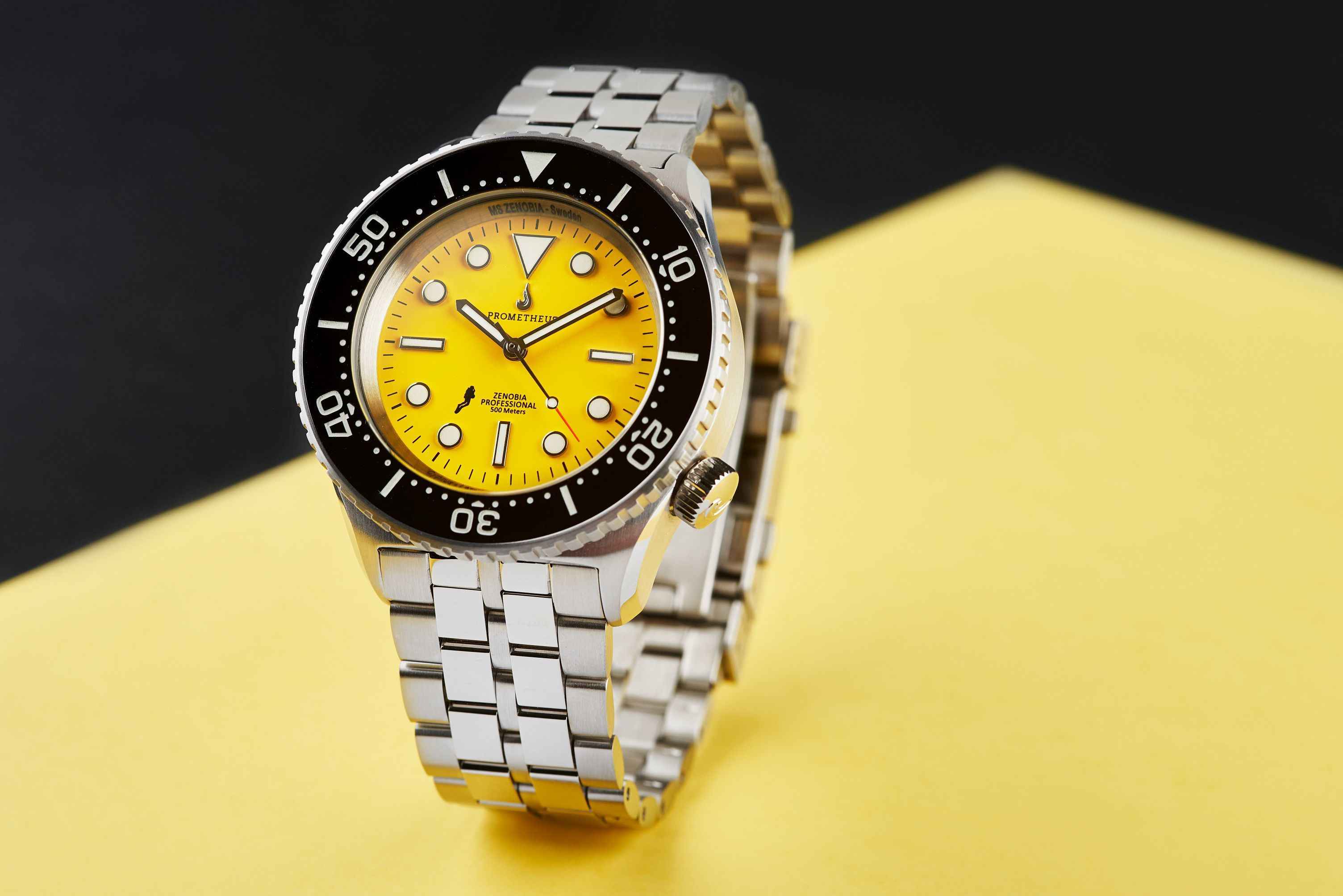 Prometheus Zenobia Yellow Dial Version D1 No Date