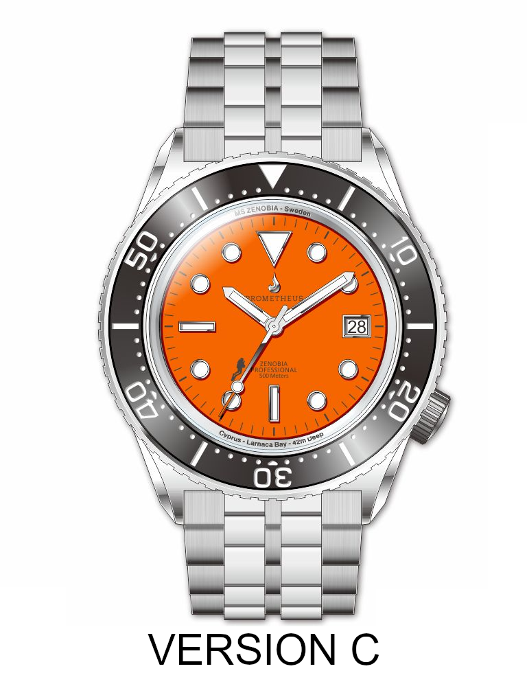 Prometheus Zenobia Orange Dial Date Version C PZENOBIACORANGE