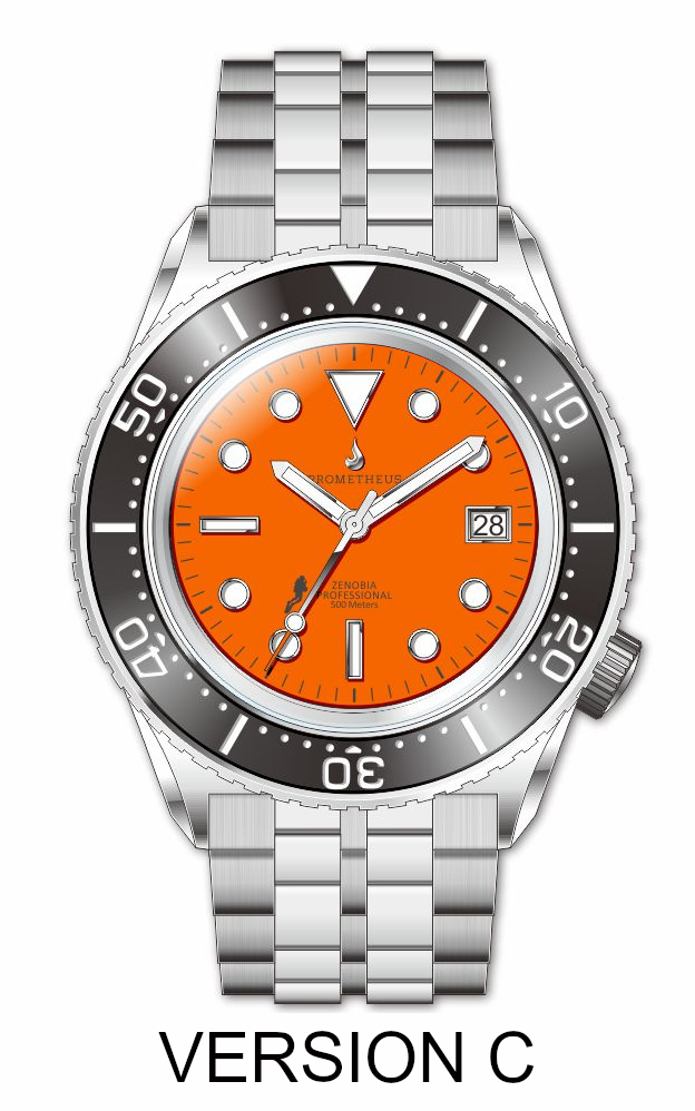 Prometheus Zenobia Orange Dial Date Version C (non refundable deposit)