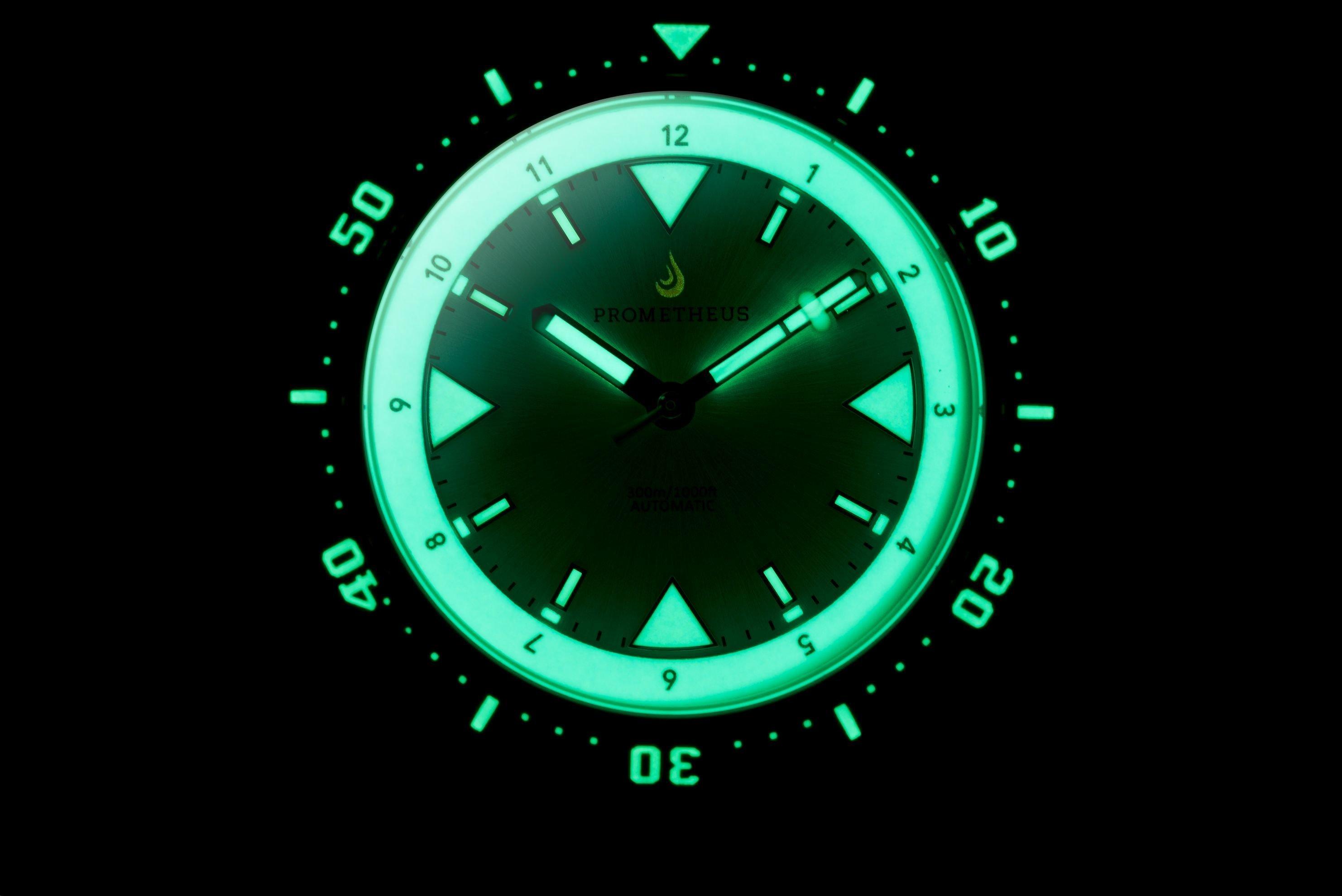 Pre-Order Prometheus Eagle Ray Version 5A1 Black Dial No Date C3X1 Superluminova