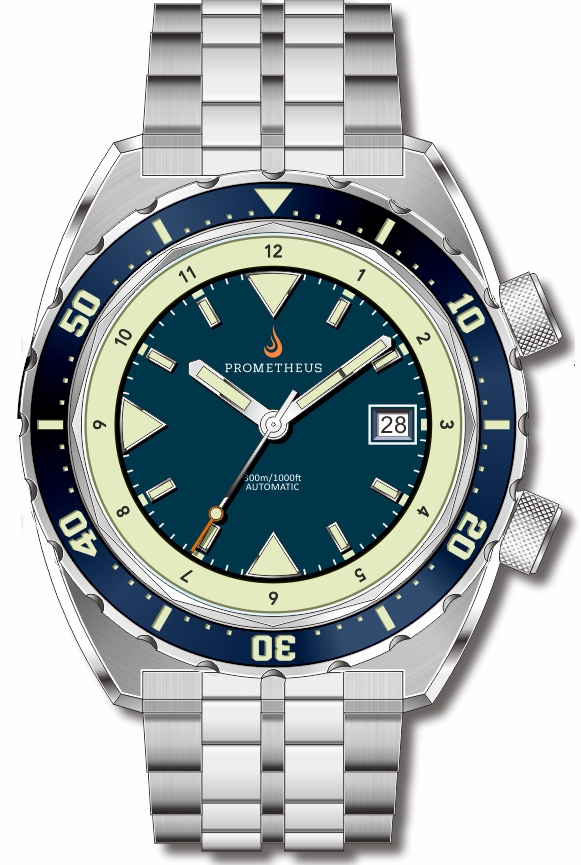 Pre-Order Prometheus Eagle Ray Version 5B ETA 2824 Blue Dial Date C3X1 Superluminova PMTEAGLERAY5BDATE