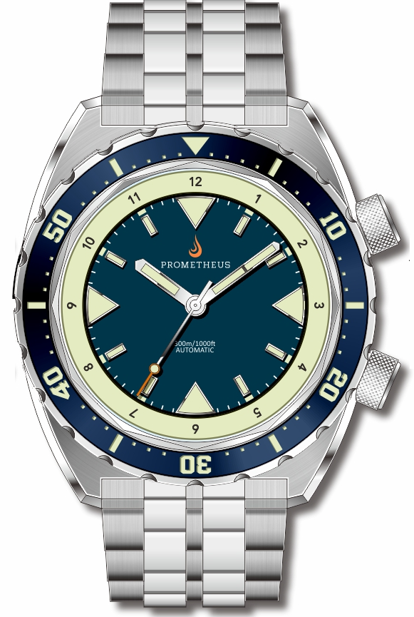 Pre-Order Prometheus Eagle Ray Version 5B.1 ETA 2824 Blue Dial No Date C3X1 Superluminova PMTEAGLERAY5B1NODATE