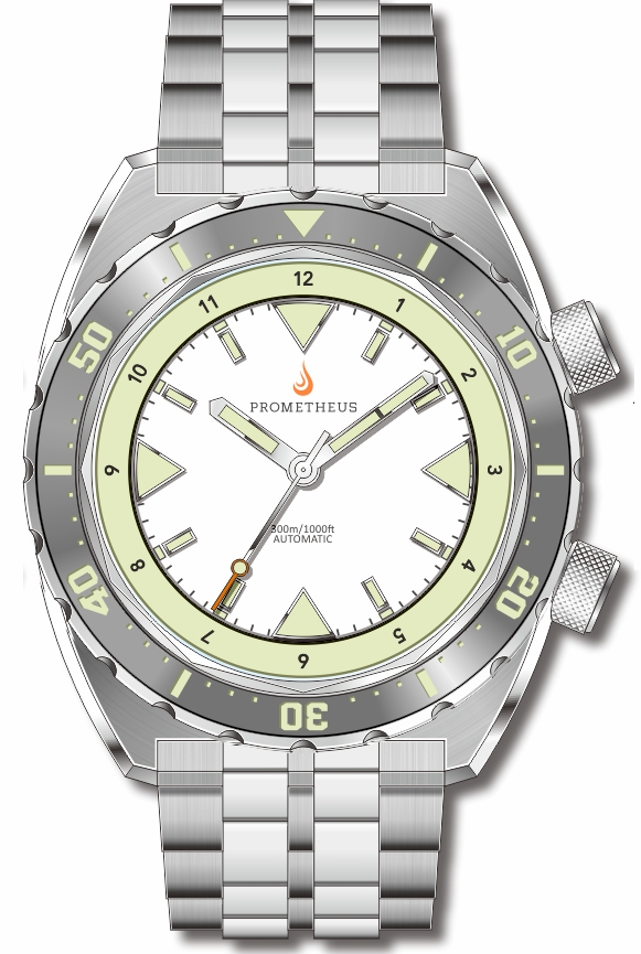 Pre-Order Prometheus Eagle Ray Version 5D1 ETA 2824 White Dial No Date C3X1 Superluminova