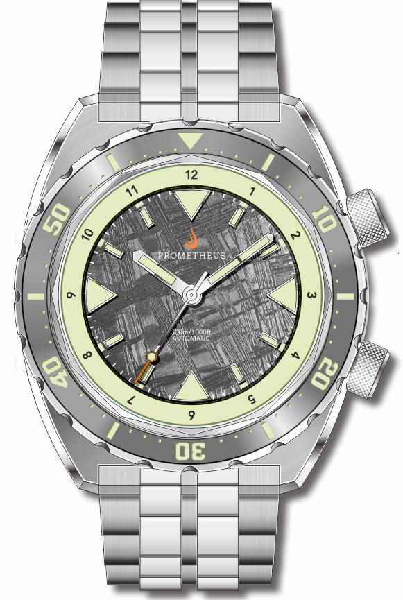 97094cc95ef Pre-Order Prometheus Eagle Ray Version 5E1 ETA 2824 Meteorite Dial No Date  C3X1 Superluminova