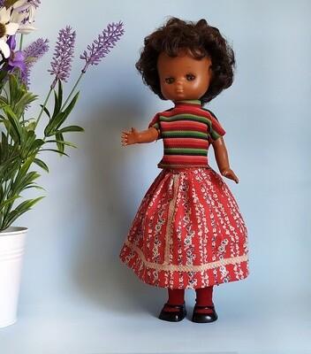 Muñeca Lesly negra años 70