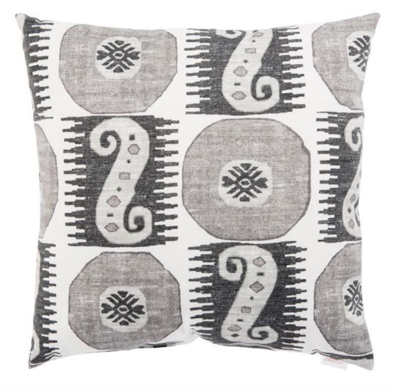 Veranda Tonal Black Pillow
