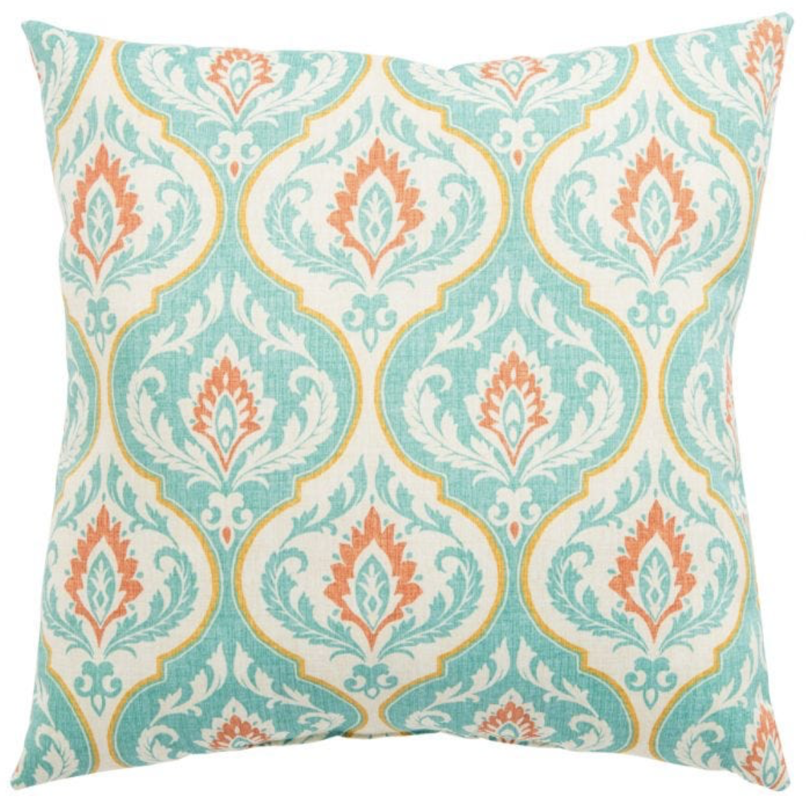 Veranda Teal Arabesque Pillow