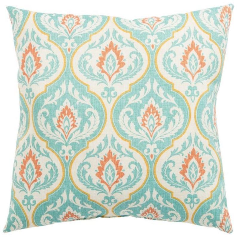 Veranda Teal Arabesque Pillow