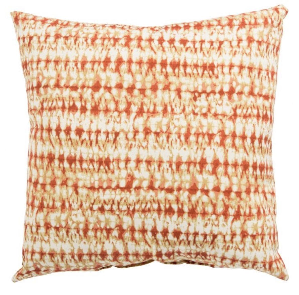 Veranda Coral Batik Pillow