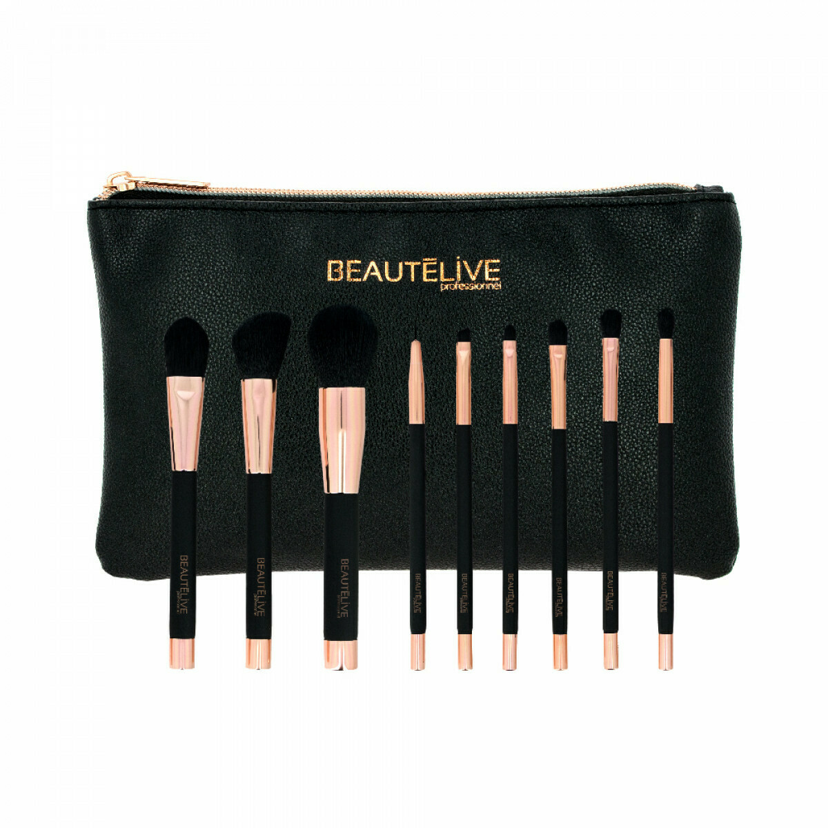 Trousse 9 pinceaux à maquillage Midnight Show Beautélive
