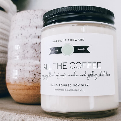 All the Coffee candle by Arrow it Forward