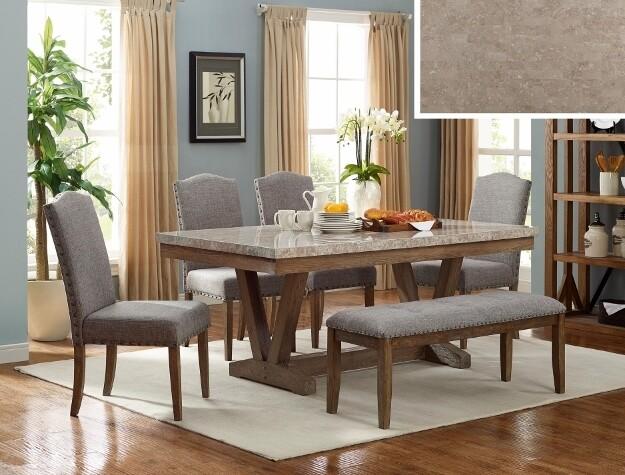 Vesper Marble Rectangular Dining Set *Website Exclusive*