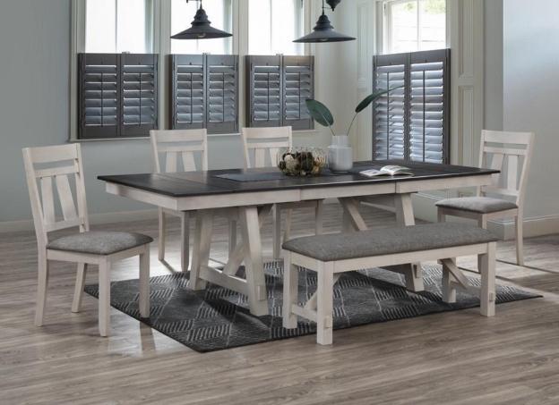 Maribelle Chalk/Grey Dining Set *Website Exclusive*