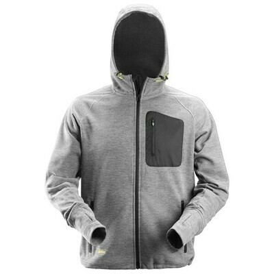 FlexiWork, Fleece Hoodie - GREY/BLACK