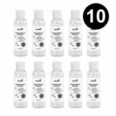 10 x 100ml Hand Sanitiser hand wash gel with aloe extract
