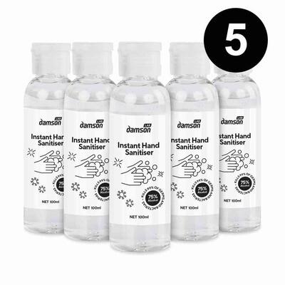 5 x 100ml Hand Sanitiser hand wash gel with aloe extract