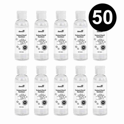 50 x 100ml Hand Sanitiser hand wash gel with aloe extract