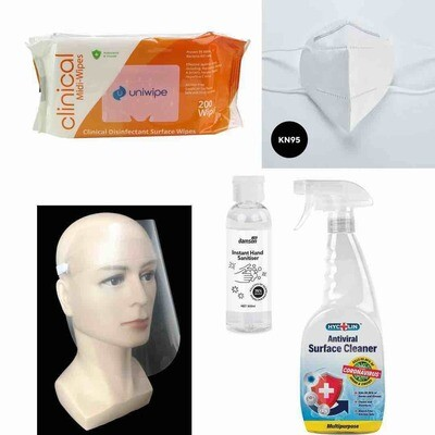 FFP2 ultimate protection pack for home or office, retail store