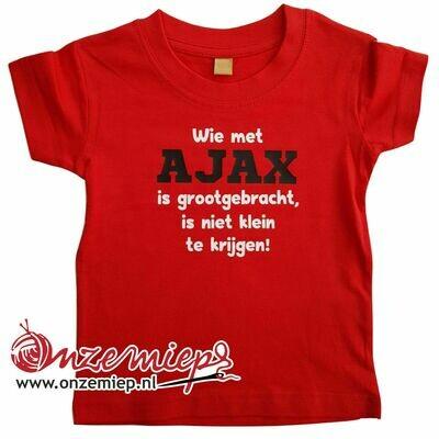 Rood baby shirt met