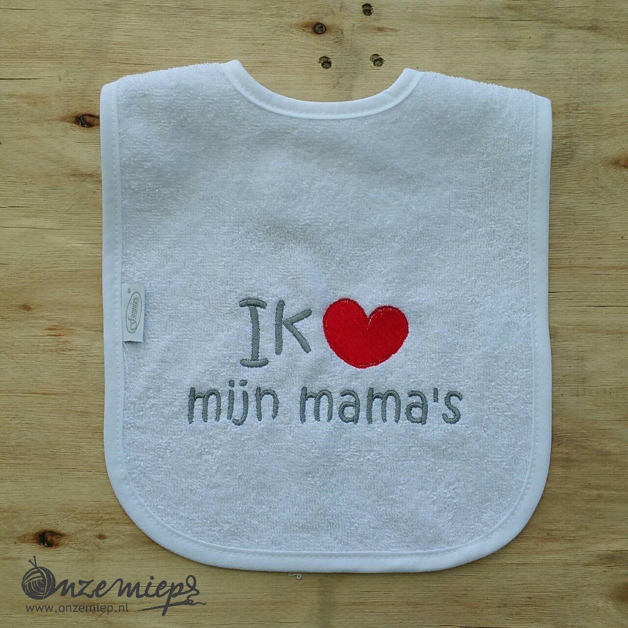 """Witte slab met """"Ik hou van mijn mama's"""""""