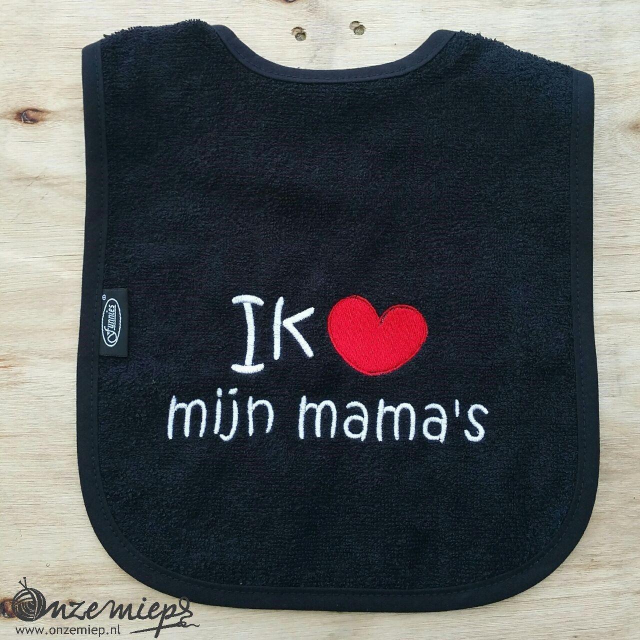 """Zwarte slab met """"Ik hou van mijn mama's"""""""