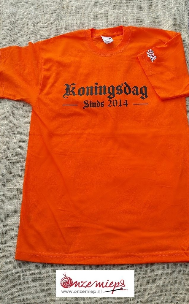 Koningsdag sinds 2014 shirts