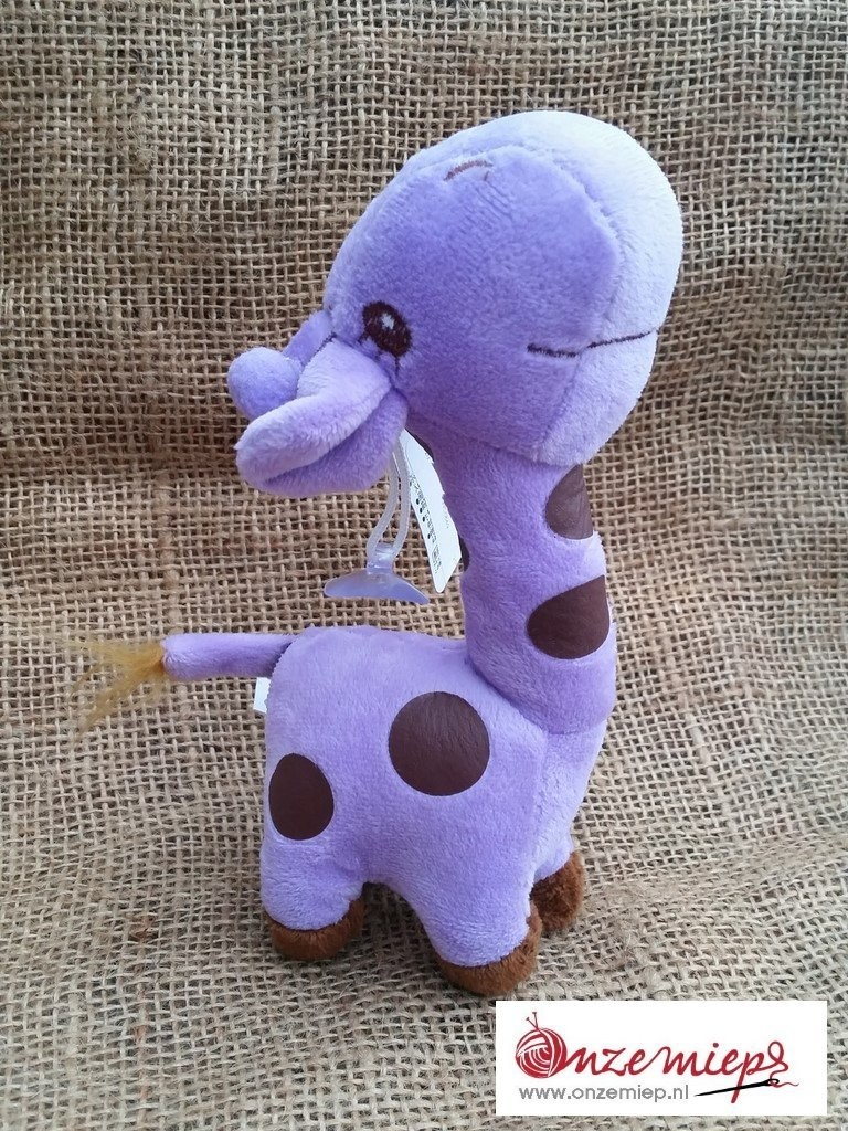 Paarse giraffe