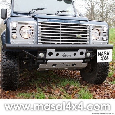Tubular Bumper with LED DLR's for Land Rover Defender 90 / 110 (Masai Style)