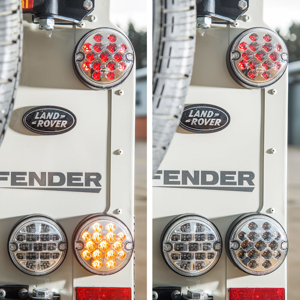 OS Clear Lenses - NAS style LED Lights Upgrade Kit for Land Rover Defender