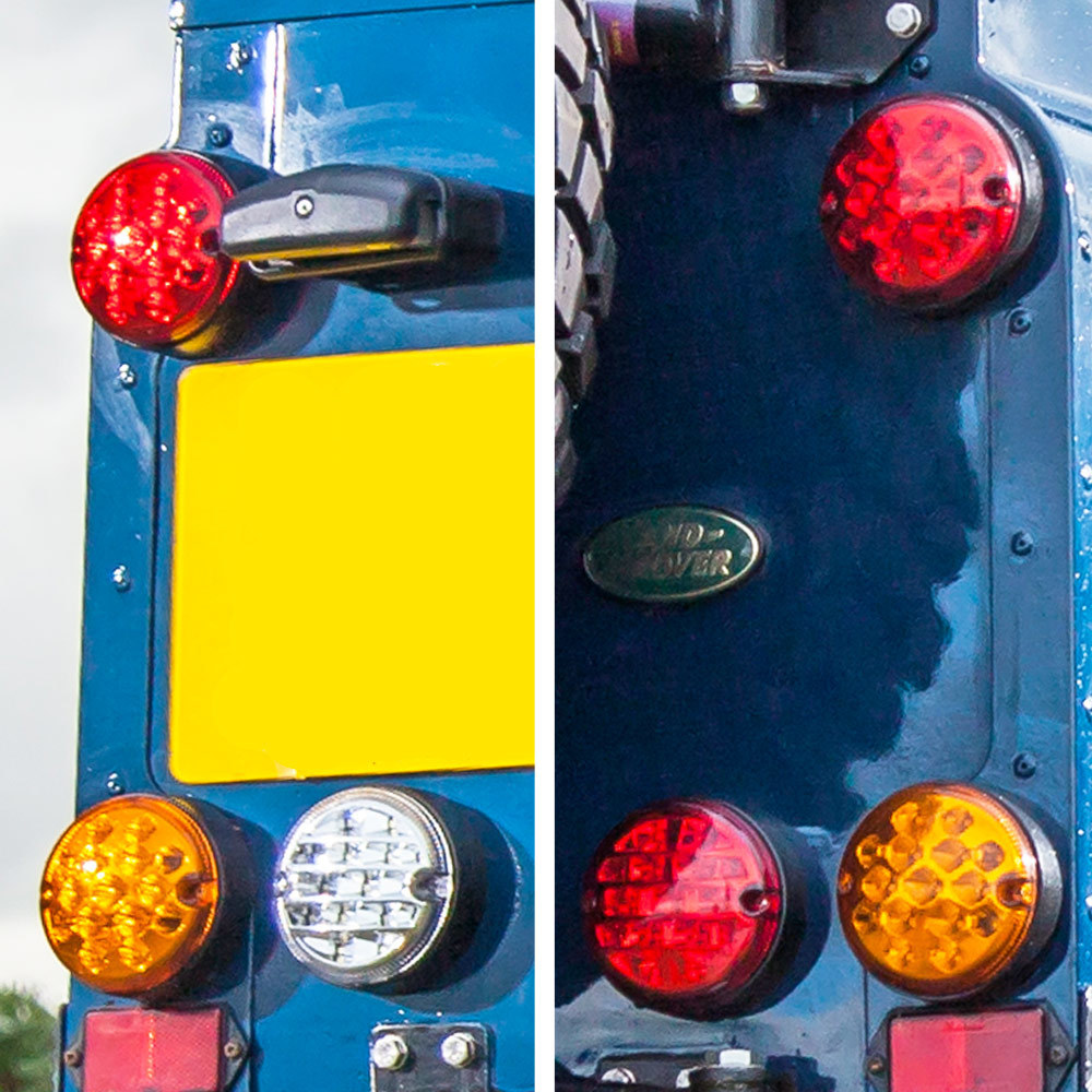 Rear Coloured Lenses - NS and OS - NAS style LED Lights Upgrade Kit for Land Rover Defender